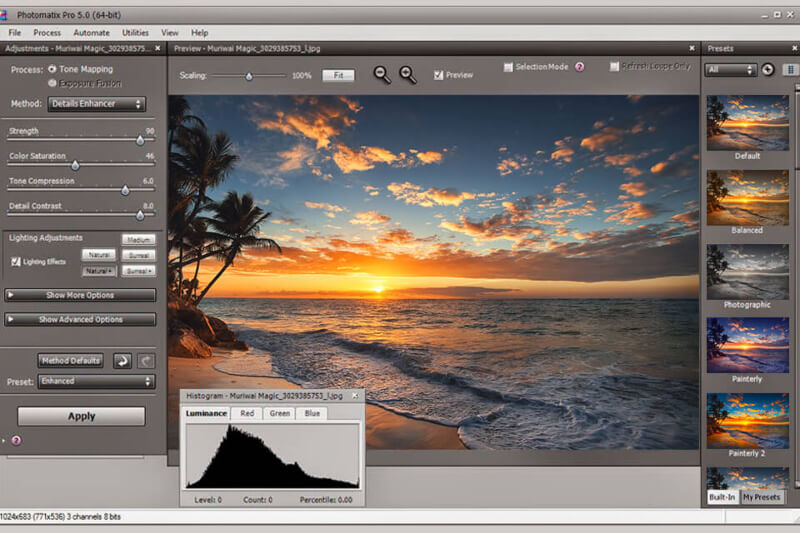 تحميل برنامج اضافة التأثيرات على الصور 2021 Photomatix للكمبيوتر