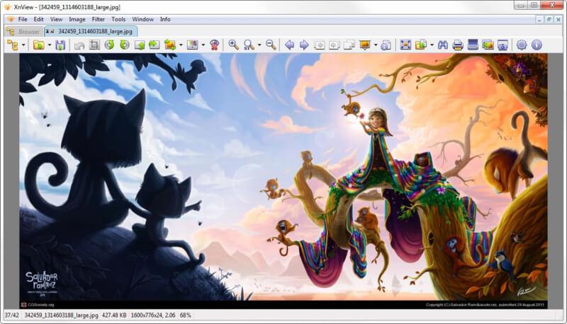 تحميل برنامج عرض وتحرير الصور ، برنامج xnview للكمبيوتر ، عارض الصور ، انشاء سلايد شو