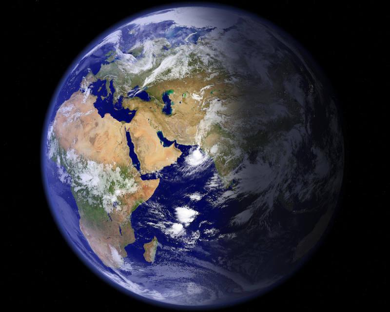 مشاهدة المعالم الجغرافية من الفضاء