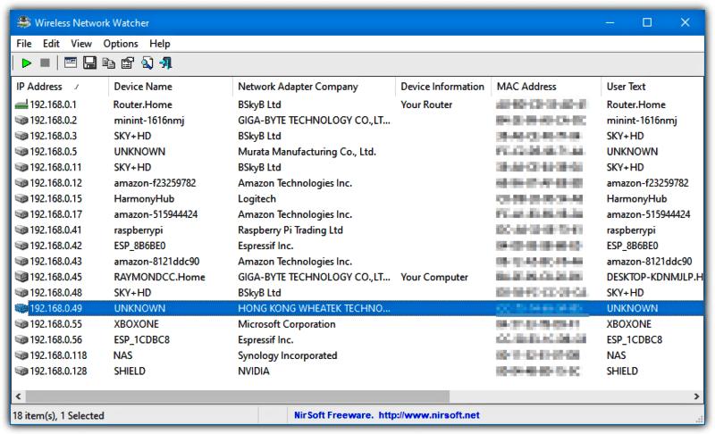 تحميل برنامج مراقبة الواي فاي 2021 Wireless Network Watcher للكمبيوتر