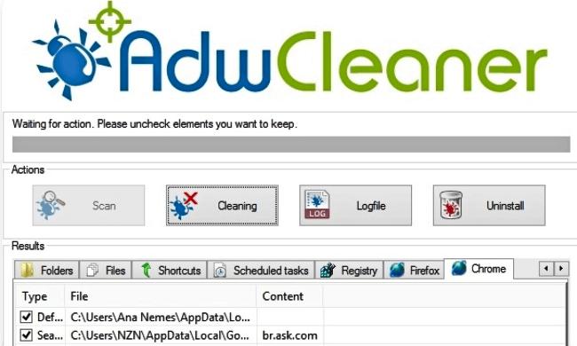 برنامج ازالة البرمجيات الخبيثة على المتصفحات ، تنظيف الكمبيوتر من الادوات الضارة.