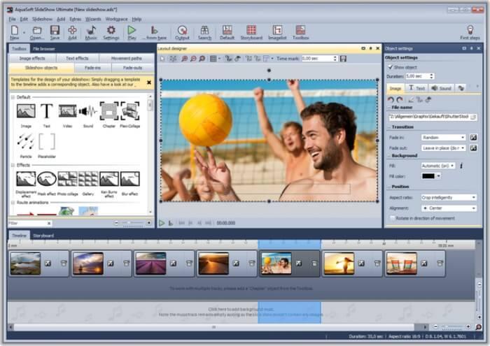 برنامج انشاء عرض شرائح الصور 2021 AquaSoft SlideShow للكمبيوتر