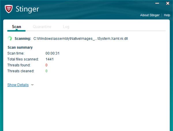 تحميل برنامج مكافي ستينغر McAfee Stinger للكمبيوتر