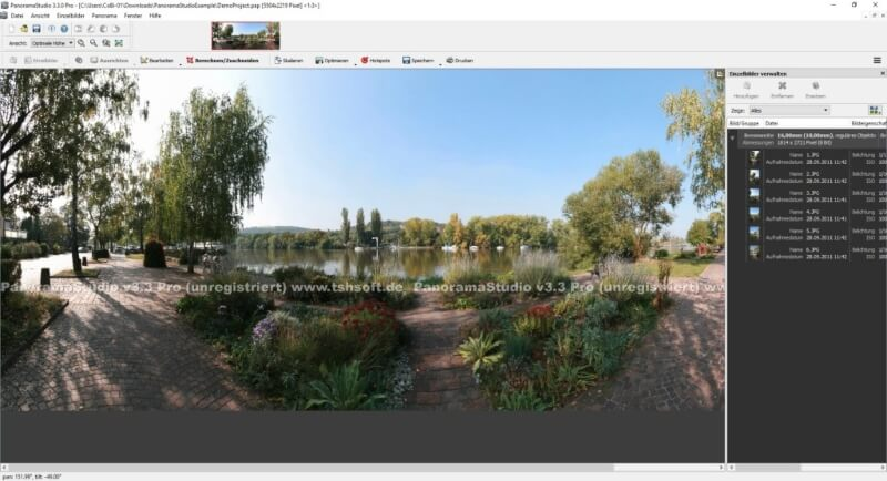 برنامج عمل صور بانوراما 2021 PanoramaStudio للكمبيوتر
