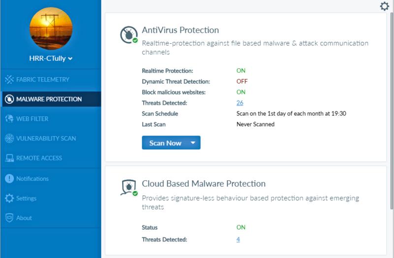 برنامج الحماية من الملفات الضارة 2021 FortiClient للكمبيوتر