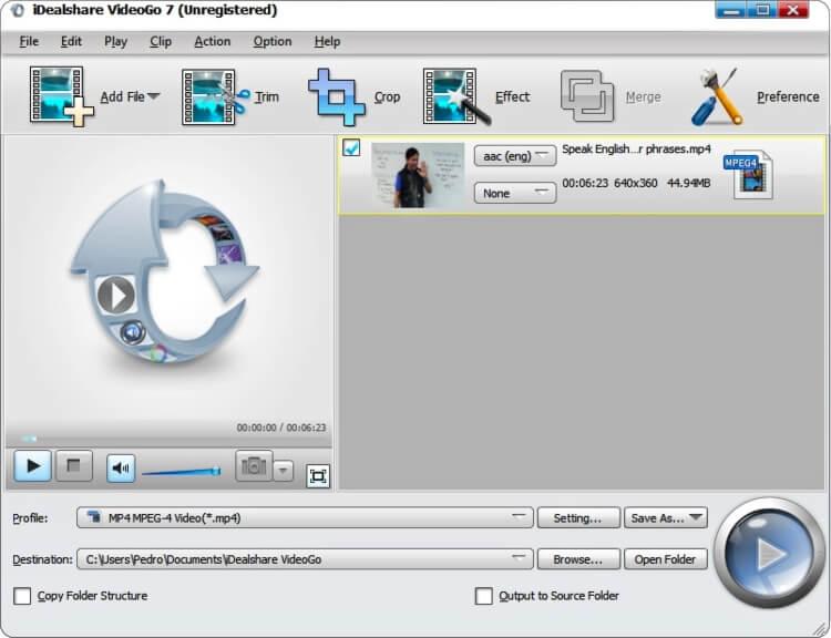 برنامج محول الفيديو بمختلف الصيغ iDealshare VideoGo