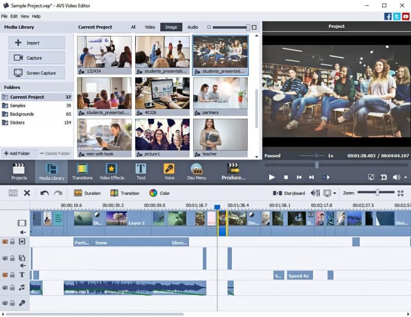 برنامج صناعة وتحرير الفيديو AVS Video Editor للكمبيوتر