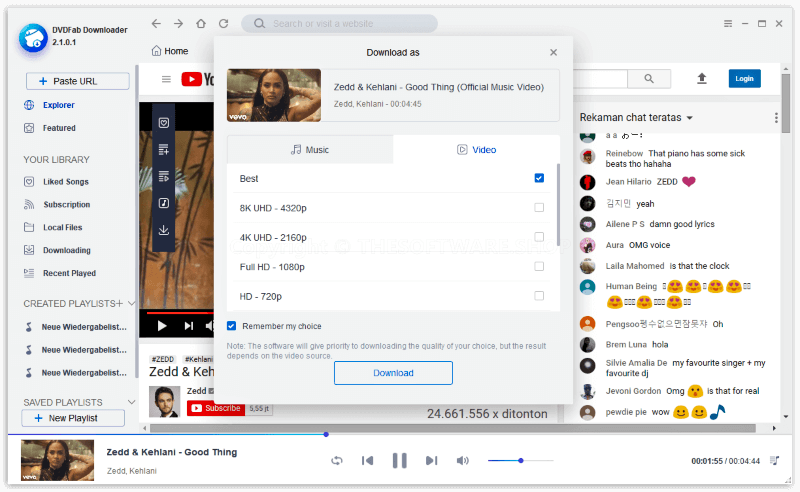 برنامج تحميل الفيديو من اي موقع DVDFab Downloader