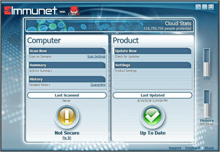 تحميل برنامج لازالة البرمجيات الخبيثة Immunet للكمبيوتر