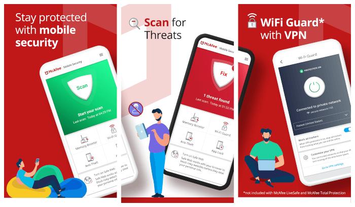 تحميل تطبيق مكافي للاندرويد McAfee Mobile Security مجانا