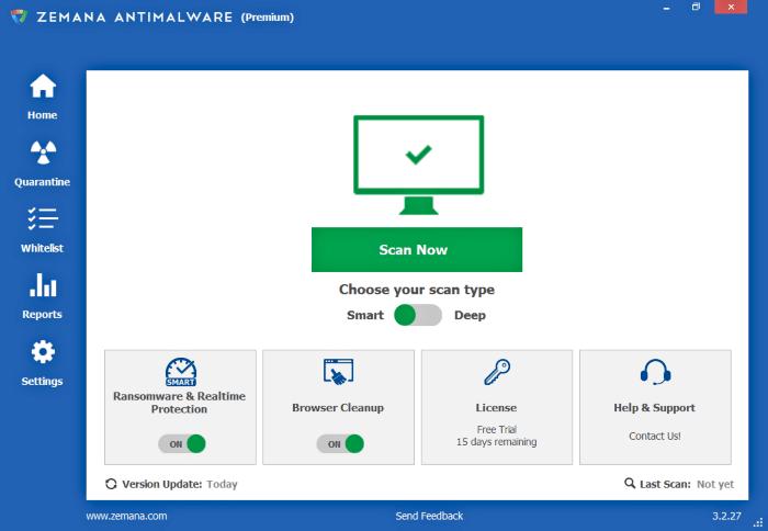برنامج ازالة المالوير مجانا Zemana AntiMalware للكمبيوتر