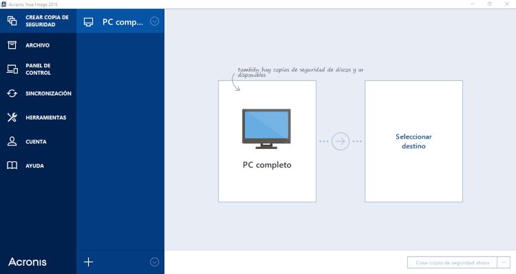 نسخ احتياطي للملفات ، مزامنة الملفات مع التخزين السحابي ، Acronis True Image