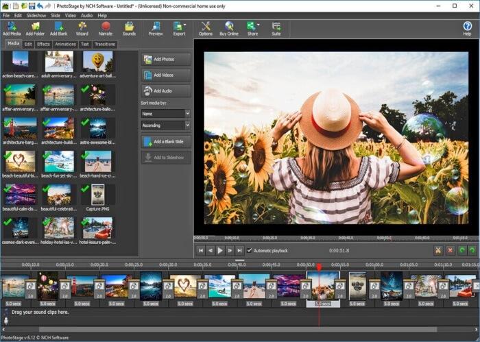 برنامج عمل سلايد شو من الصور PhotoStage للكمبيوتر
