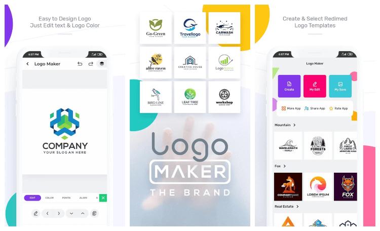 برنامج صناعة اللوجو للاندرويد Logo Maker اخر اصدار مجانا