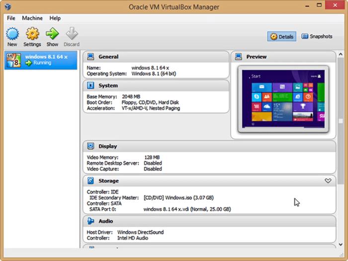 برنامج تشغيل الانظمة الافتراضية 2021 VirtualBox للكمبيوتر