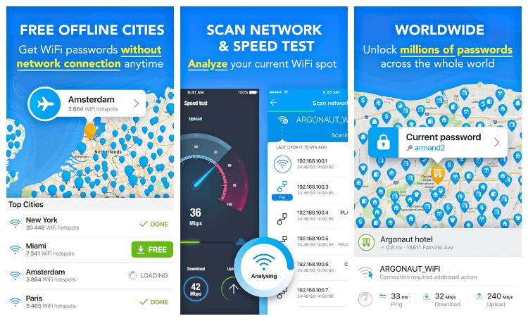 برنامج معرفة باسورد اى شبكه للاندرويد Wifi Map