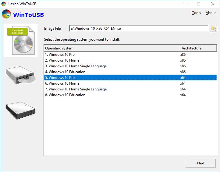 برنامج لنقل الويندوز الى الفلاش ديسك WinToUSB اخر اصدار