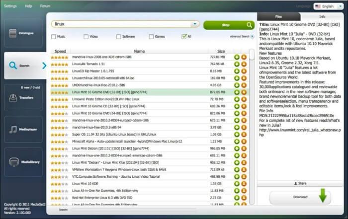 برنامج لتحميل الوسائط عبر التورنت MediaGet للكمبيوتر