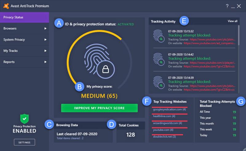 برنامج حماية الخصوصية على النت Avast AntiTrack للكمبيوتر