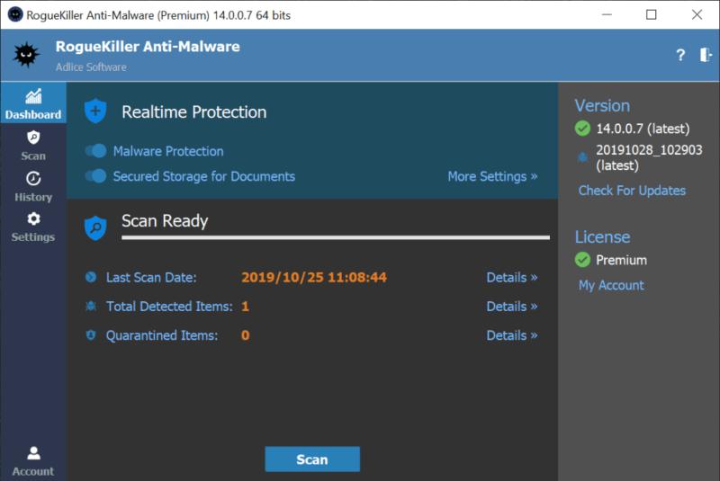 تحميل برنامج مكافحة البرامج الخبيثة RogueKiller للكمبيوتر