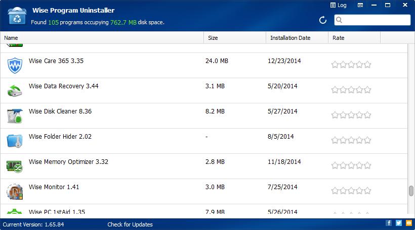 برنامج لازالة البرامج نهائيا من الويندوز Wise Program Uninstaller