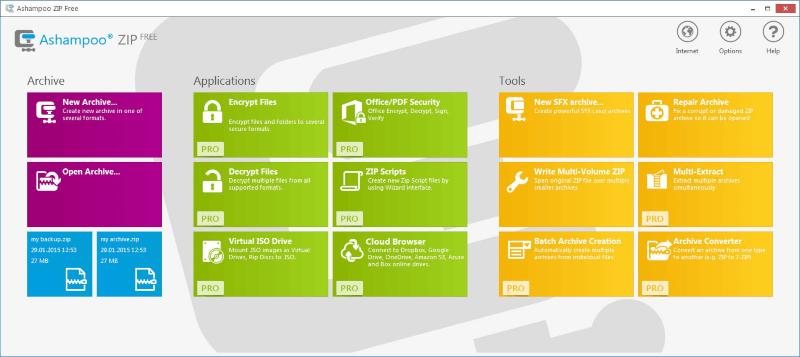 برنامج اشامبو لضغط الملفات Ashampoo ZIP Free