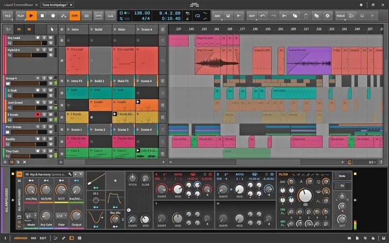 برنامج لانشاء وتحرير الصوتيات Bitwig Studio للكمبيوتر