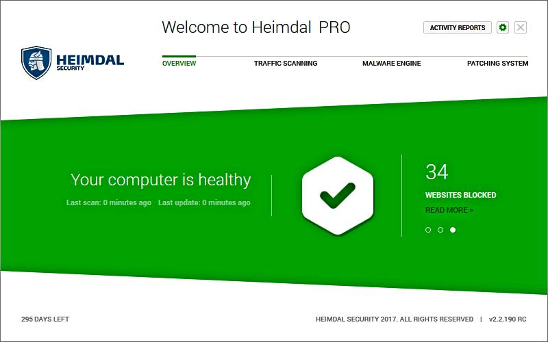 برنامج لحذف الملفات الضارة Heimdal Security للكمبيوتر