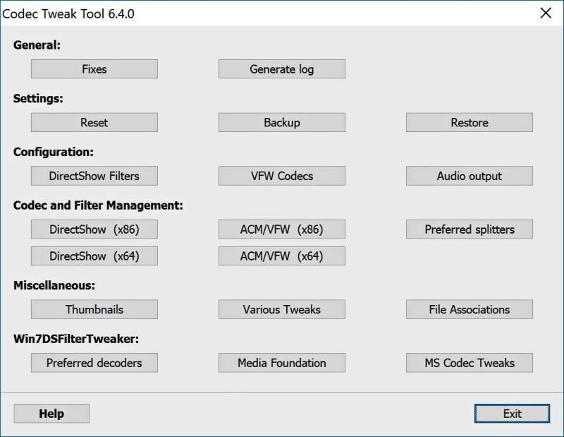 تحميل برنامج اصلاح الترميزات Codec Tweak Tool للكمبيوتر