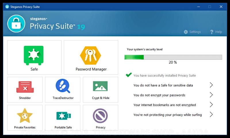 برنامج لتشفير الملفات وتأمينها 2021 Steganos Privacy Suite للكمبيوتر