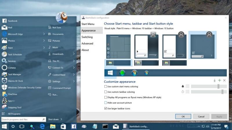 برنامج لاستعادة قائمة ابدأ StartIsBack++ للويندوز