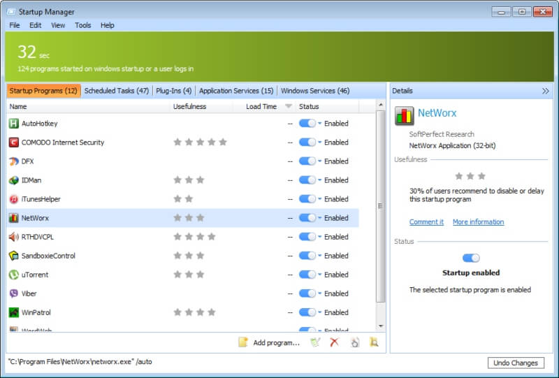 تحميل برنامج تسريع تشغيل الكمبيوتر Quick Startup مجانا